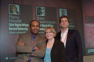 Sree Sreenivasan, Perry Hewitt, and Bernardo Rodriguez