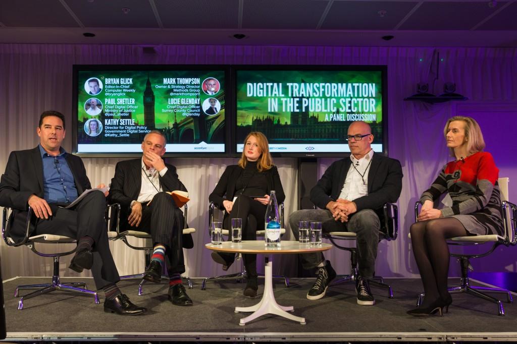 Bryan Glick, Mark Thompson, Lucie Glenday, Paul Shetler, Kathy Settle, Chief Digital Officer Summit, CDO Summit, CDO Club, Digital Transformation, Public Sector, London, 2014
