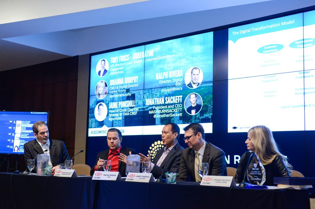 Tony Fross, Jonathan Sackett, Ralph Rivera, Jaime Punishill, Johanna Murphy, Chief Digital Officer Summit, CDO Summit, CDO Club, Digital Transformation, NYC, 2015