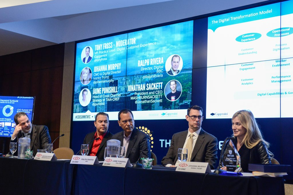 Tony Fross, Jonathan Sackett, Ralph Rivera, Jaime Punishill, Johanna Murphy, Chief Digital Officer Summit, CDO Summit, CDO Club, Digital Transformation, NYC, 2015