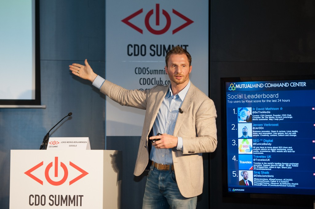 Joris Merks-Benjaminsen, Google, Chief Digital Officer Summit, Amsterdam, E.U., 2015