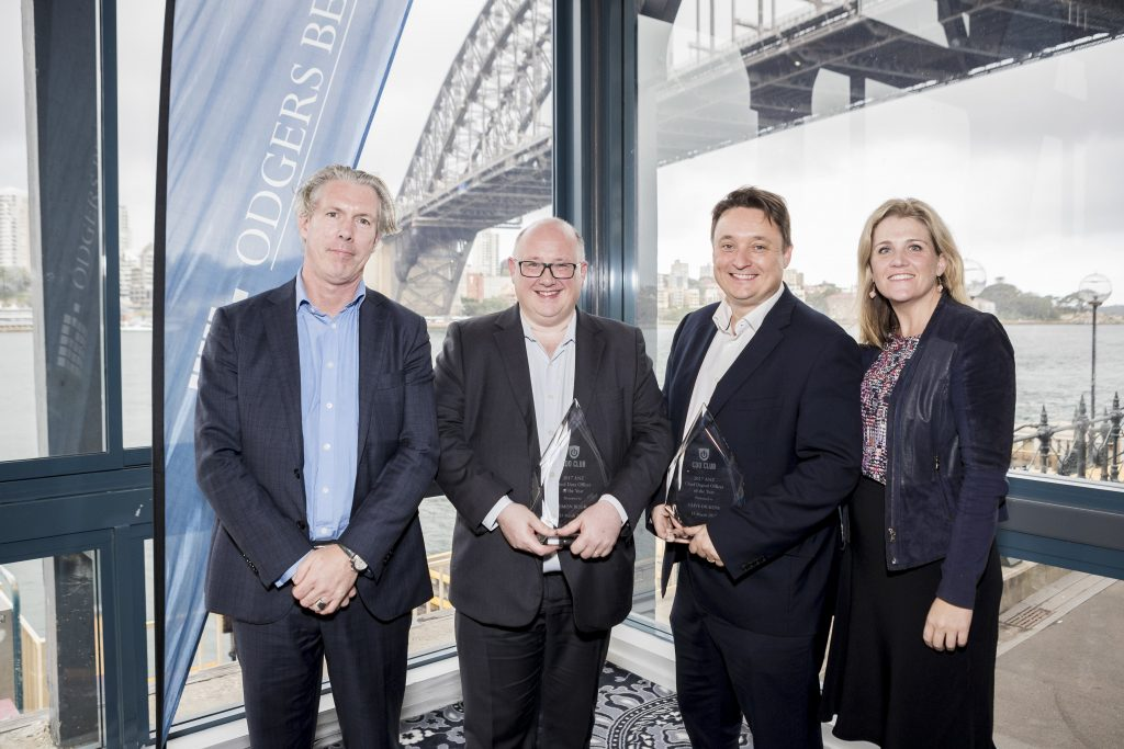 Simon Bligh and Clive Dickens, flanked by Odgers Berndtson's Paul Rush (left) and Rebecca Reed (right).