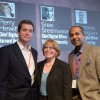 Bernardo Rodriguez (Kaplan), Perry Hewitt (Harvard) and Sree Sreenivasan (Columbia) at the Chief Digital Officer Summit
