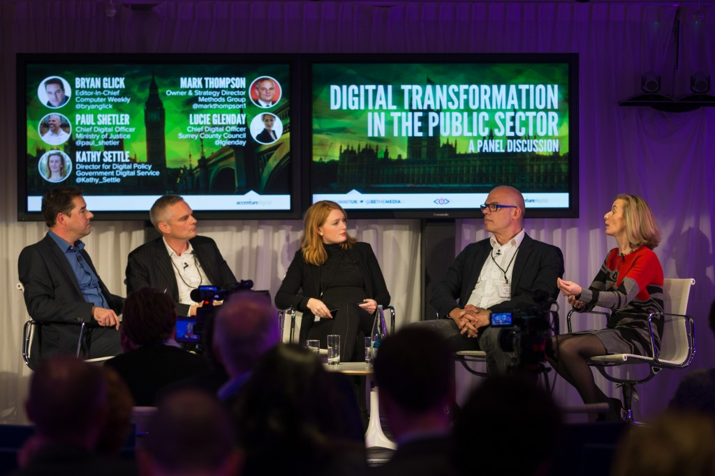 Bryan Glick, Mark Thompson, Lucie Glenday, Paul Shetler, Kathy Settle, Chief Digital Officer Summit, CDO Summit, CDO Club, Digital Transformation, Public Sector, London, 2014