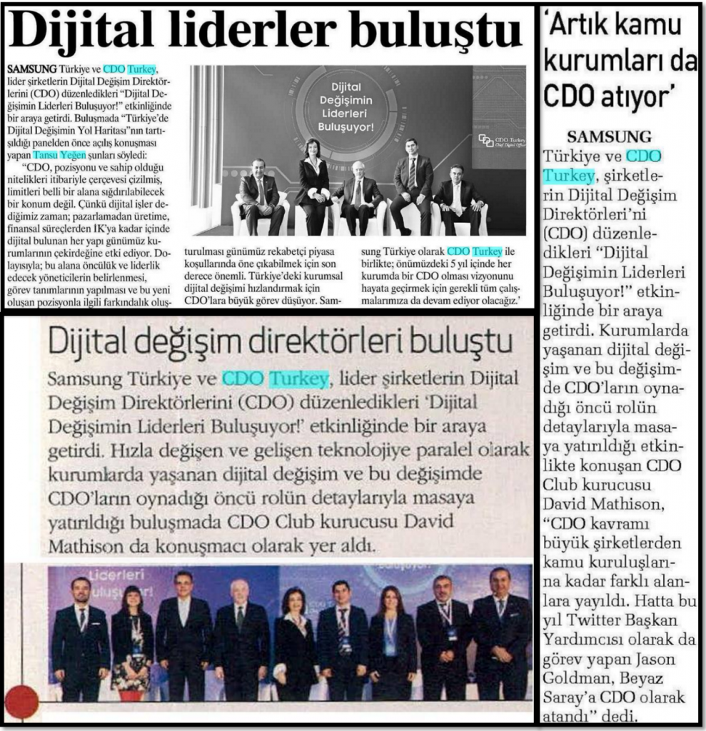 Press Coverage of CDO Turkey
